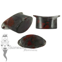 African Bloodstone 20mm Oval Stone Labret - Ready To Ship