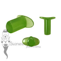 Applelite Bright Green 6mm Teardrop Glass Labret - Ready To Ship