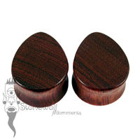 Bloodwood 25mm Teardrop Plugs - Ready To Ship