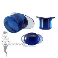 Blue Glass 14mm Oval Labret - Ready To Ship