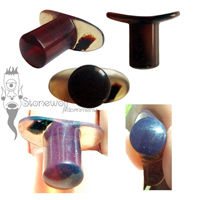Blue Amber Round Labret Made To Order