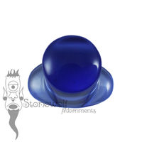 Dark Blue Glass 11mm Round Labret - Ready To Ship