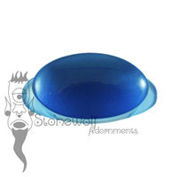 Blue Glass 19mm Oval Labret - Ready To Ship