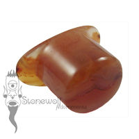 Carnelian Agate 13mm Oval Labret - Ready To Ship