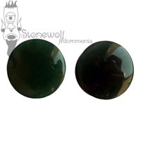 Dark Green Aventurine DF 26mm Plugs - Ready To Ship