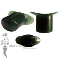 Dark Green Aventurine Stone Oval Labret Made to Order