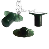 Dark Green Aventurine Stone Round Labret Made to Order - Click Image to Close