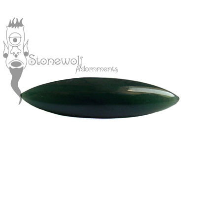 Dark Green Aventurine Septum Spike 9mm - Ready To Ship