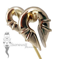 Pair of Bronze Electromagnet Ear Weights