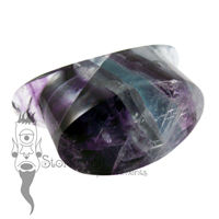 Fluorite 18mm Wide Oval Labret - Ready To Ship