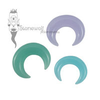 Frosted Glass Septum Pincher Choice of Colour- Made to Order