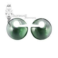 Gorilla Glass Forest Green Mini Eclipse Glass Ear Weights