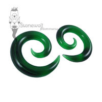Gorilla Glass 8mm Emerald Green Glass Spirals