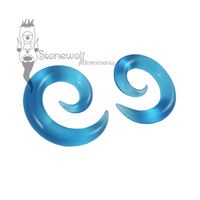 Gorilla Glass 6mm Ocean Turquoise Glass Spirals