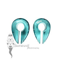 Gorilla Glass Turquoise Small Keyhole Ear Weights