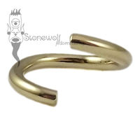 18k Yellow Gold 1mm Seam Ring - Made to Order