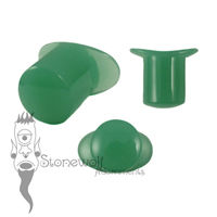 Green Mint Glass 12mm Round Labret - Ready To Ship