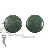 Rainforest Guatemalan Jadeite 22mm Round Plugs - Ready To Ship