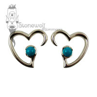 Pair of Bronze Jewel of my Heart Ear Weights - Made to Order