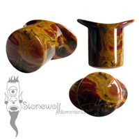 K-Scope Jasper Stone Round Labret Made to Order