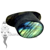 Labradorite 11mm Oval Labret - Ready To Ship