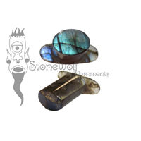 Labradorite Stone Oval Labret Made to Order