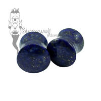 Lapis Lazuli 12mm Double Flared Plugs -Ready To Ship