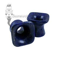 Lapis Lazuli 12mm Square Trumpet Flared Eyelets -Ready To Ship