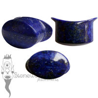 Lapis Lazuli 18mm Oval Labret - Ready To Ship