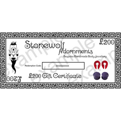 Gift Certificate for £200