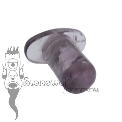 Amethyst 6mm Round Labret - Ready To Ship