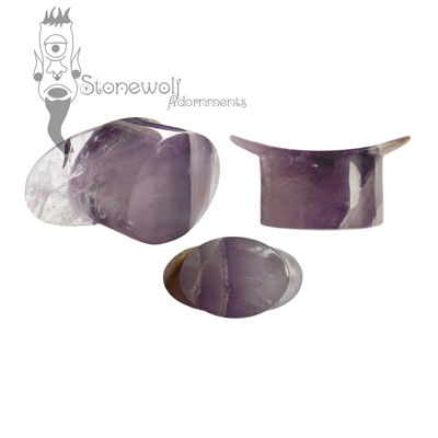 Amethyst Stone Oval Labret Made to Order