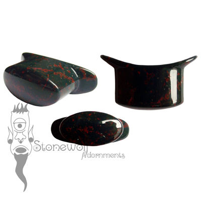 Bloodstone Stone Oval Labret Made to Order