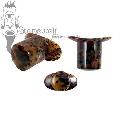 Cheetah Agate Round Glass Labret Made to Order