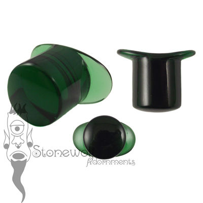 Emerald Green 12mm Round Glass Labret - Ready To Ship