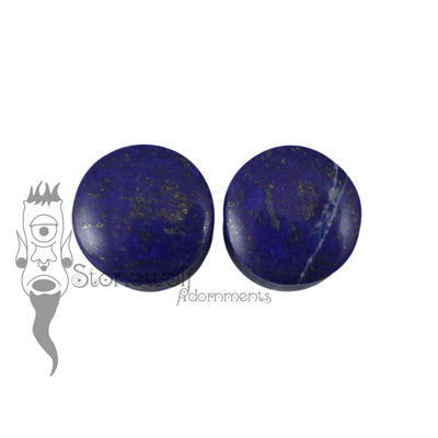Lapis Lazuli 18mm Double Flared Plugs -Ready To Ship