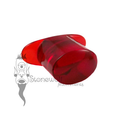 Ruby Red Glass 12mm Oval Labret - Ready To Ship