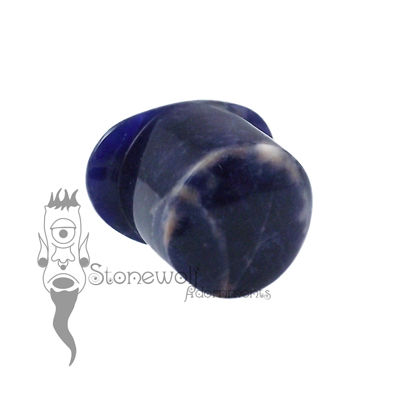 Sodalite 16mm Round Labret - Ready To Ship