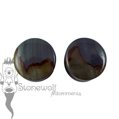 Succor Creak Landscape Jasper 21mm Stone Plugs - Ready To Ship