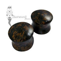 Pair of Metallic Stag Jasper Plugs Double Flared Made to Order