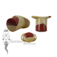 Mookaite 11mm Round Labret - Ready To Ship