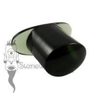 Dark Olive Green 13mm Oval Glass Labret - Ready To Ship