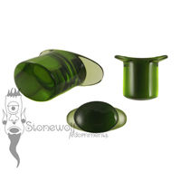 Olive 12mm Oval Glass Labret - Ready To Ship