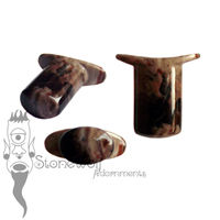 Petrified Wood 8mm Oval Stone Labret - Ready To Ship