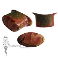 Multi-Coloured Picasso Jasper Stone Oval Labret Made to Order