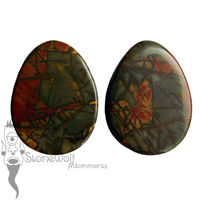 Multi-Coloured Picasso Jasper Septum Spike- Made to Order