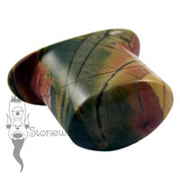Multi-Coloured Picasso Jasper 14mm Oval Labret - Ready To Ship