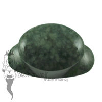 Rainforest Jadeite 16mm Oval Stone Labret - Ready To Ship