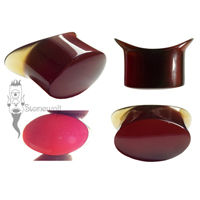 Red Amber Stone Oval Labret Made to Order