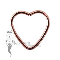 9k Rose Gold 1.2mm Heart Shape Seam Ring - Made to Order